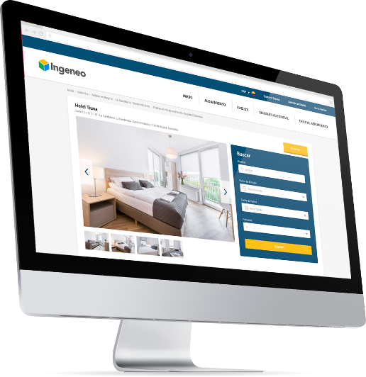 Pantalla consulta hotel con Booking