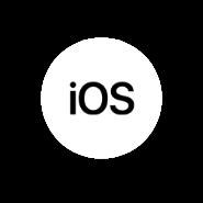Logo IOS circular blanco