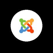 Logo Joomla con fondo blanco