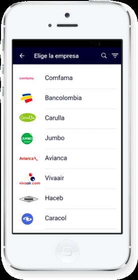 Imagen celular mostrando resultados de clientes