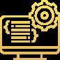 Icono pantalla con código naranja