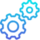Icono engranajes azules