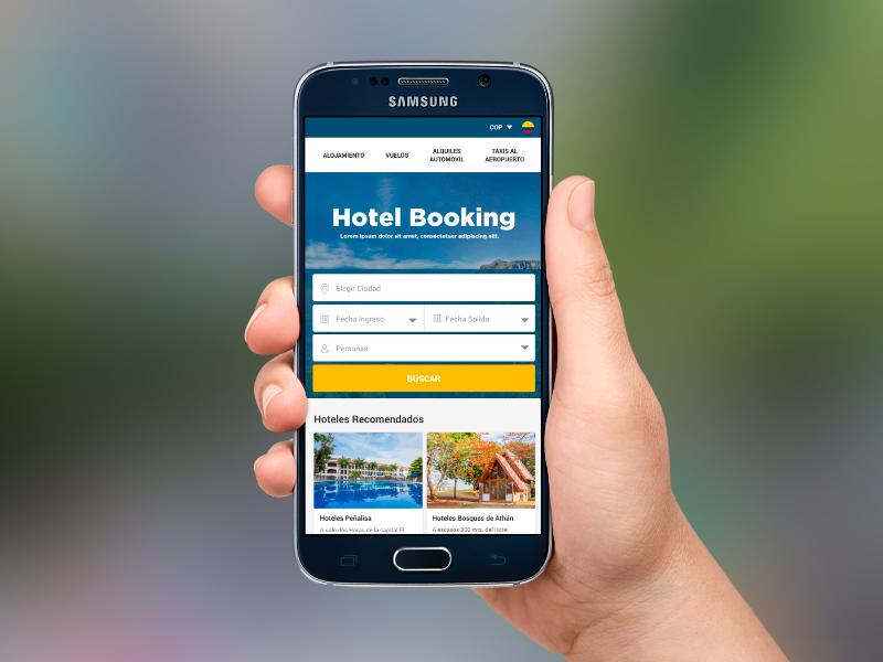 App Booking en móvil